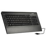 Клавиатура проводная SONNEN KB-M530, USB, мультимедийная, 15 дополнительных кнопок, серо-голубая