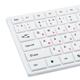 Клавиатура проводная SONNEN KB-M560, USB, мультимедийная, 5 дополнительных кнопок, белая