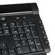 Клавиатура беспроводная SONNEN KB-R120, мультимедийная, 9 дополнительных кнопок, 2,4 GHz, черная