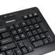 Набор беспроводной SONNEN KB-S120, клавиатура, мышь 2 кнопки+1 колесо-кнопка, черный