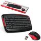 Набор беспроводной SONNEN KB-S130, клавиатура, мышь 5 кнопок+1 колесо-кнопка, черный/<wbr/>красный