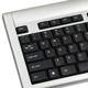 Набор беспроводной SONNEN KB-S140, клавиатура, мышь 2 кнопки+1 колесо-кнопка, серебристый