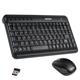 Набор беспроводной SONNEN KB-S150, мини-клавиатура, мышь 2 кнопки+1 колесо-кнопка, черный