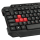 Набор беспроводной игровой SONNEN KB-G5000, клавиатура, мышь 5 кнопок+1 колесо-кнопка, черный