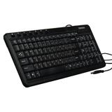 Клавиатура проводная SONNEN KB-M500, USB, мультимедийная, 7 дополнительных кнопок, черная
