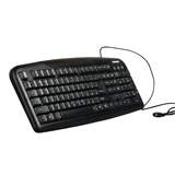 Клавиатура проводная SONNEN KB-110, PS/<wbr/>2, 107 кнопок (104 основных + 3 дополнительных), черная