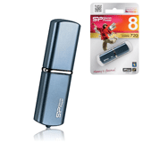 ����-���� SILICON POWER 8 GB Luxmini 720, USB 2.0, ����������� ������, �������� ������/<wbr/>������ — 10/<wbr/>5 ��/<wbr/>���., �����