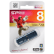 Флэш-диск 8 GB, SILICON POWER Luxmini 720, USB 2.0, металлический корпус, синий
