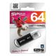 Флэш-диск 64 GB, SILICON POWER ultima II-I Series, USB 2.0, черный
