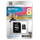 ����� ������ micro SDHC 8 GB SILICON POWER �������� �������� ������ 10 ��/<wbr/>���. (class 10), � ���������