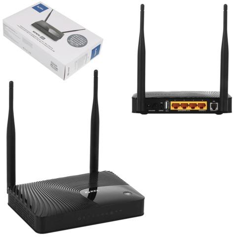 Маршрутизатор-ADSL ZYXEL Keenetic DSL, 1RJ11, 4 LAN, 2 USB, 10/<wbr/>100 Мбит/<wbr/>с, WI-FI802.11n, 300 Мбит/<wbr/>с, 3G