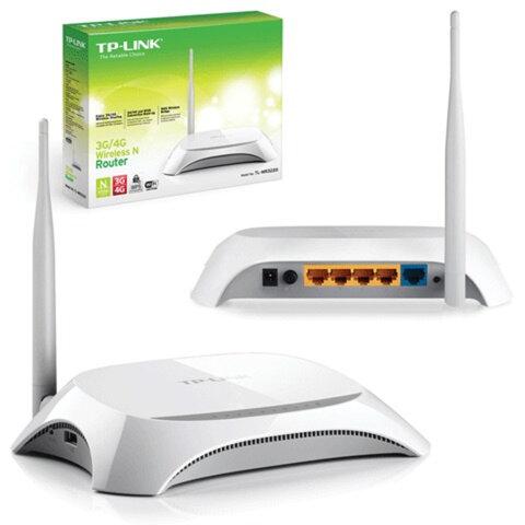 Маршрутизатор TP-LINK TL-MR3220 3G/<wbr/>4G, 1WAN, 4LAN, 1USB, 10/<wbr/>100 Мбит/<wbr/>с, WI-FI802.11n, 150 Мбит/<wbr/>с