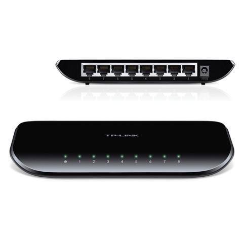 Коммутатор TP-LINK TL-SG1008D, 8RJ45, LAN 10/<wbr/>100/<wbr/>1000 Мбит/<wbr/>с, проводной