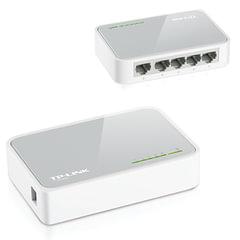 Коммутатор TP-LINK TL-SF1005D, 5RJ45, LAN 10/<wbr/>100 Мбит/<wbr/>с, проводной