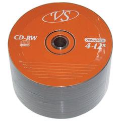 Диски CD-RW VS, 700 Mb, 4-12x, 50 шт., Bulk