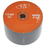 ����� CD-RW VS, 700 Mb, 4-12x, 50 ��., Bulk