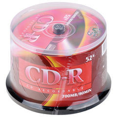 Диски CD-R VS, 700 Mb, 52x, 50 шт., Cake Box