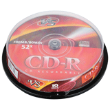 ����� CD-R VS, 700 Mb, 52x, 10 ��., Cake Box