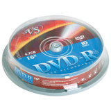 ����� DVD-R VS, 4,7 Gb, 10 ��., Cake Box