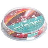 Диски DVD+RW VS, 4,7 Gb, 4x, 10 шт., Cake Box