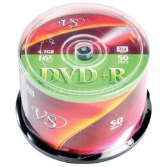 Диски DVD+R VS, 4,7Gb, 16x, 50 шт., Cake Box