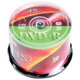 ����� DVD+R VS, 4,7Gb, 16x, 50 ��., Cake Box