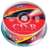 ����� CD-R VS, 700 Mb, 52x, 25 ��., Cake Box, � ������������ ��� ������