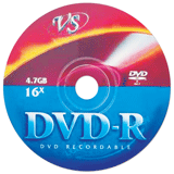 ���� DVD-R VS, 4,7 Gb, 16x, �������� �������