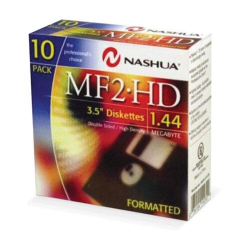 """Дискеты 3,5"""" NASHUA, 10 шт. (картонная упаковка)"""