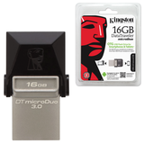 ����-���� KINGSTON, 16 GB, DT MicroDuo OTG, USB 3.0, �������� ������/<wbr/>������ — 70/<wbr/>10 ��/<wbr/>���, ������