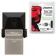 ����-���� KINGSTON, 16 GB, DT MicroDuo OTG, USB 3.0, �������� ������/<wbr/>������ — 70/<wbr/>10 ��/<wbr/>���, ������