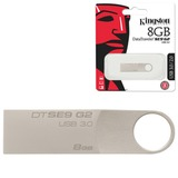 Флэш-диск 8 GB, KINGSTON DataTraveler SE9 G2, USB 3.0, серебристый