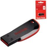 Флэш-диск 8 GB, SANDISK Cruzer Blade, USB 2.0, черный