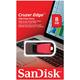 Флэш-диск 8 GB, SANDISK Cruzer Edge, USB 2.0, черный