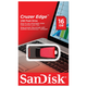 ����-���� SANDISK, 16 Gb, Cruzer Edge USB 2.0, �������� ������/<wbr/>������ — 15/<wbr/>10, ������