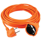 Удлинитель в бухте POWER CUBE, 1 розетка с заземлением, 10 м, 3×0,75 мм, 1300 Вт, оранжевый