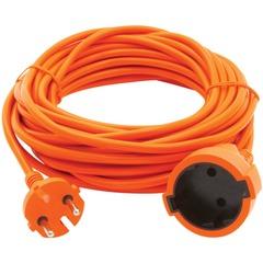 Удлинитель в бухте POWER CUBE, 1 розетка без заземления, 30 м, 2×0,75 мм, 1300 Вт, оранжевый
