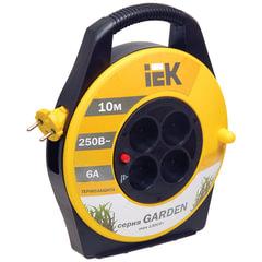 Удлинитель на катушке IEK (ИЕК) GARDEN, ГОСТ Р51539, 4 розетки без заземления, 10 м, 2×0,75 мм, 1300 Вт
