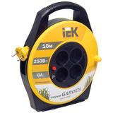 Удлинитель на катушке IEK (ИЕК) GARDEN, ГОСТ Р51539, 4 розетки, 10 м, 2×0,75 мм, 1300 Вт, без заземления