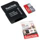 Карта памяти micro SDHC, 8 GB, SANDISK Ultra, скорость передачи данных 48 Мб/<wbr/>сек. (class 10), с адаптером