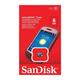 Карта памяти micro SDHC, 8 GB, SANDISK, скорость передачи данных 4 Мб/<wbr/>сек. (class 4)