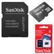 ����� ������ micro SDHC, 16 GB, SANDISK, �������� �������� ������ 4 ��/<wbr/>���. (class 4), � ���������