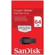 ����-���� SANDISK, 64 GB, Cruzer Blade USB 2.0, �������� ������/ ������ — 16/<wbr/>3 ��/<wbr/>���.