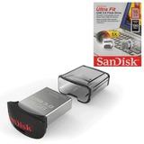 Флэш-диск 16 GB, SANDISK Ultra Fit, USB 3.0, серебристый