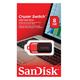 Флэш-диск 8 GB, SANDISK Cruzer Switch, USB 2.0, черно-красный