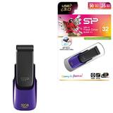 Флэш-диск 32 GB, SILICON POWER B31, USB 3.0, фиолетовый
