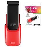 Флэш-диск 8 GB, SILICON POWER U31, USB 2.0, красный