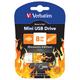 ����-���� VERBATIM, 8 GB, Mini Elements Edition Fire, USB 2.0, �������� ������/<wbr/>������ — 8/<wbr/>2,5 ��/<wbr/>���.