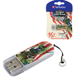 ����-���� VERBATIM, 16 GB, Mini Tattoo Edition Dragon, USB 2.0, �������� ������/<wbr/>������ — 8/<wbr/>2,5 ��/<wbr/>���.