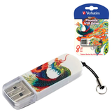 ����-���� VERBATIM, 8 GB, Mini Tattoo Edition Phoenix, USB 2.0, �������� ������/<wbr/>������ — 8/<wbr/>2,5 ��/<wbr/>���.